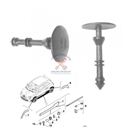 Patent ajtó burkolat rögzítő /Fiat 500 /