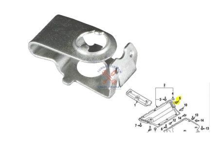 Patent Audi motorvédő burkolat rögz, lemezanya (10 db)