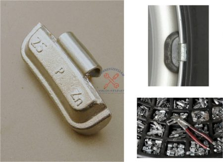 Felüthető keréksúly acélfelnire cink   5 gr (100 db)