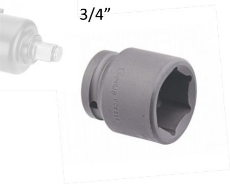 "Gépi dugókulcs fej 3/4""  22 mm"